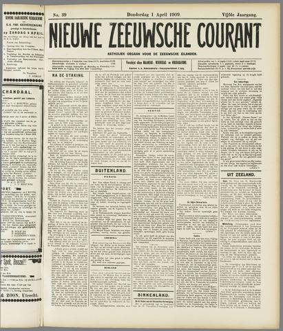 Nieuwe Zeeuwsche Courant 1909-04-01