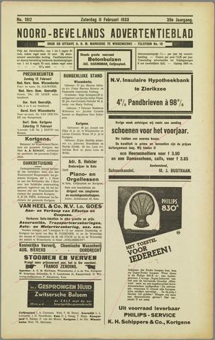 Noord-Bevelands Nieuws- en advertentieblad 1933-02-11