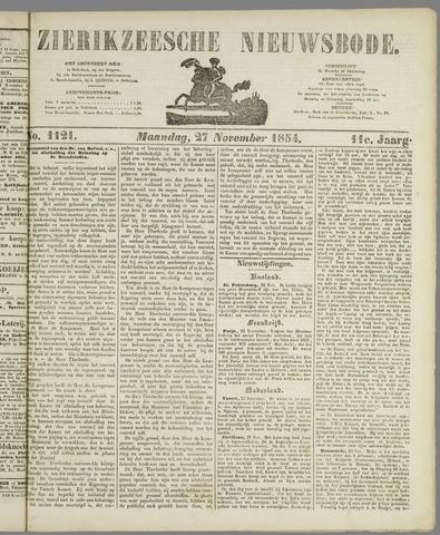 Zierikzeesche Nieuwsbode 1854-11-27