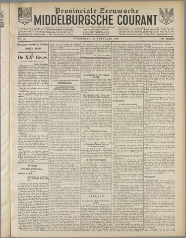 Middelburgsche Courant 1930-02-12