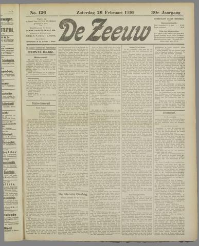 De Zeeuw. Christelijk-historisch nieuwsblad voor Zeeland 1916-02-26