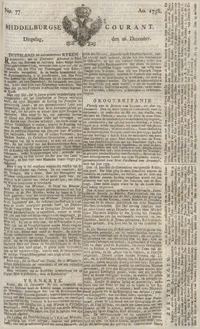 Middelburgsche Courant 1758-12-26