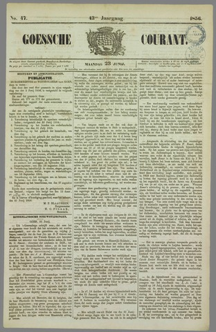 Goessche Courant 1856-06-23