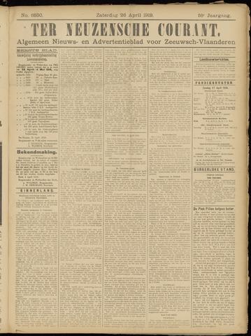 Ter Neuzensche Courant. Algemeen Nieuws- en Advertentieblad voor Zeeuwsch-Vlaanderen / Neuzensche Courant ... (idem) / (Algemeen) nieuws en advertentieblad voor Zeeuwsch-Vlaanderen 1919-04-26
