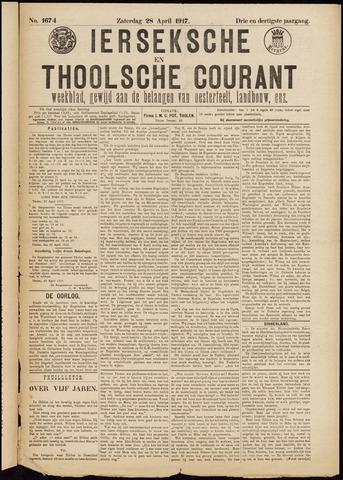 Ierseksche en Thoolsche Courant 1917-04-28