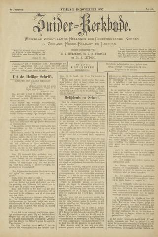 Zuider Kerkbode, Weekblad gewijd aan de belangen der gereformeerde kerken in Zeeland, Noord-Brabant en Limburg. 1897-11-19