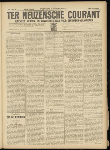 Ter Neuzensche Courant. Algemeen Nieuws- en Advertentieblad voor Zeeuwsch-Vlaanderen / Neuzensche Courant ... (idem) / (Algemeen) nieuws en advertentieblad voor Zeeuwsch-Vlaanderen 1934-10-03