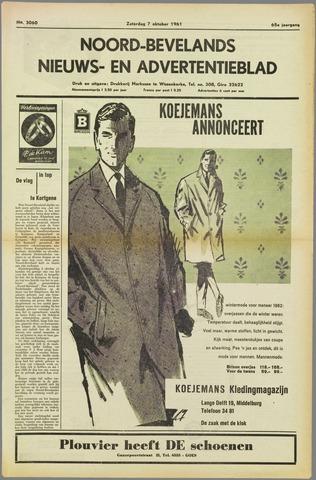 Noord-Bevelands Nieuws- en advertentieblad 1961-10-07