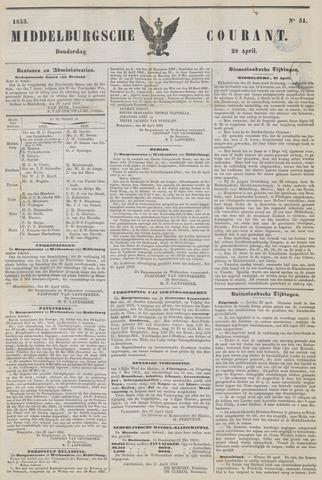 Middelburgsche Courant 1853-04-28