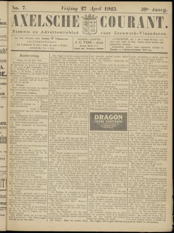 Axelsche Courant 1923-04-27