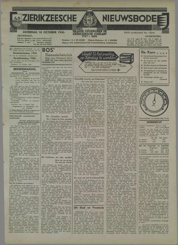 Zierikzeesche Nieuwsbode 1936-10-10
