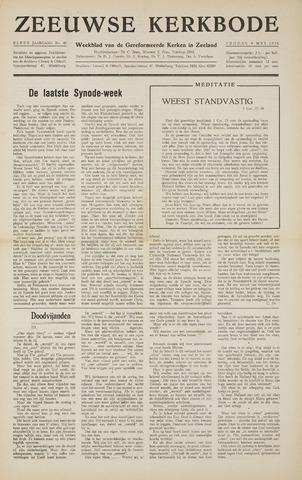 Zeeuwsche kerkbode, weekblad gewijd aan de belangen der gereformeerde kerken/ Zeeuwsch kerkblad 1956-05-04
