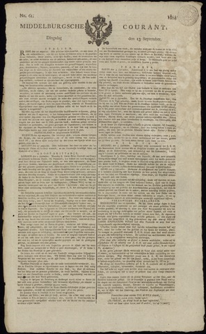 Middelburgsche Courant 1814-09-13