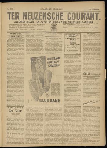 Ter Neuzensche Courant. Algemeen Nieuws- en Advertentieblad voor Zeeuwsch-Vlaanderen / Neuzensche Courant ... (idem) / (Algemeen) nieuws en advertentieblad voor Zeeuwsch-Vlaanderen 1933-04-24