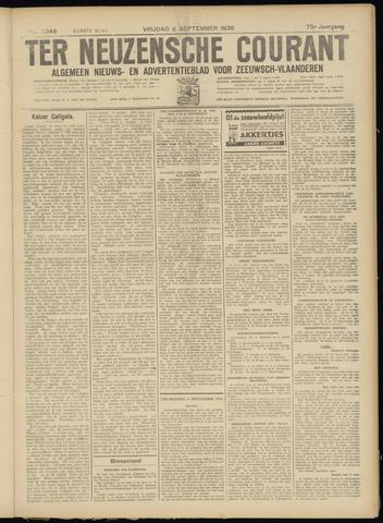 Ter Neuzensche Courant. Algemeen Nieuws- en Advertentieblad voor Zeeuwsch-Vlaanderen / Neuzensche Courant ... (idem) / (Algemeen) nieuws en advertentieblad voor Zeeuwsch-Vlaanderen 1935-09-06