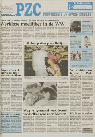 Provinciale Zeeuwse Courant 1993-08-25