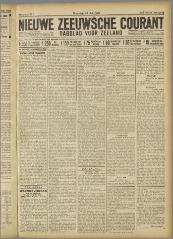 Nieuwe Zeeuwsche Courant 1922-07-24