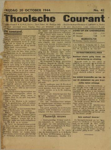 Ierseksche en Thoolsche Courant 1944-10-20