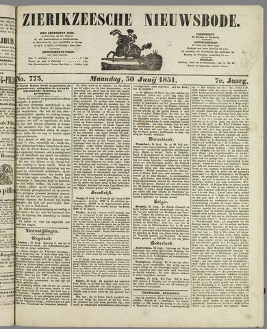 Zierikzeesche Nieuwsbode 1851-06-30