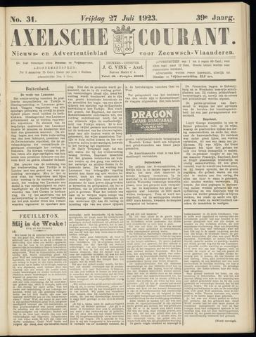 Axelsche Courant 1923-07-27
