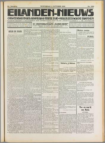 Eilanden-nieuws. Christelijk streekblad op gereformeerde grondslag 1939-10-04