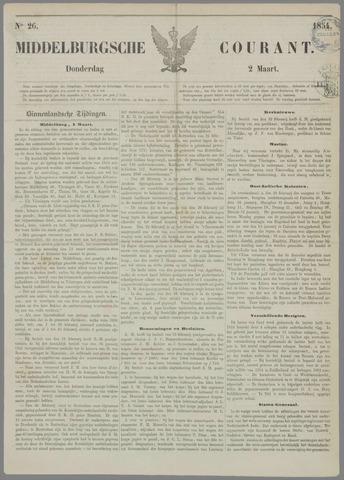 Middelburgsche Courant 1854-03-02