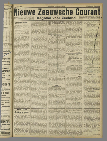 Nieuwe Zeeuwsche Courant 1920-04-20
