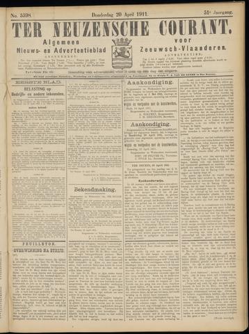 Ter Neuzensche Courant. Algemeen Nieuws- en Advertentieblad voor Zeeuwsch-Vlaanderen / Neuzensche Courant ... (idem) / (Algemeen) nieuws en advertentieblad voor Zeeuwsch-Vlaanderen 1911-04-20
