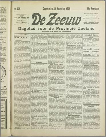 De Zeeuw. Christelijk-historisch nieuwsblad voor Zeeland 1930-08-28