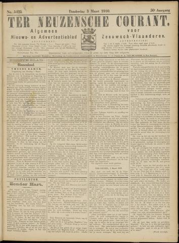 Ter Neuzensche Courant. Algemeen Nieuws- en Advertentieblad voor Zeeuwsch-Vlaanderen / Neuzensche Courant ... (idem) / (Algemeen) nieuws en advertentieblad voor Zeeuwsch-Vlaanderen 1910-03-03