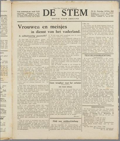 de Stem 1945-02-10