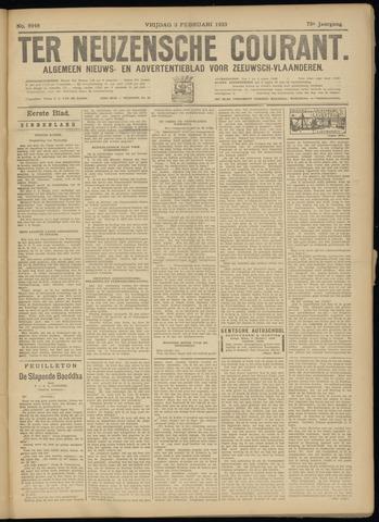 Ter Neuzensche Courant. Algemeen Nieuws- en Advertentieblad voor Zeeuwsch-Vlaanderen / Neuzensche Courant ... (idem) / (Algemeen) nieuws en advertentieblad voor Zeeuwsch-Vlaanderen 1933-02-03
