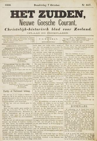 Het Zuiden, Christelijk-historisch blad 1880-10-07