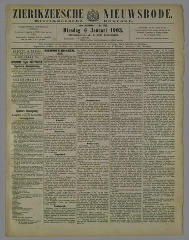 Zierikzeesche Nieuwsbode 1903-01-06