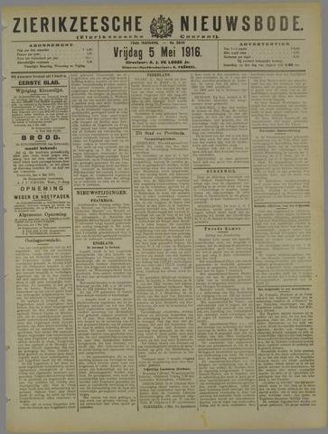 Zierikzeesche Nieuwsbode 1916-05-05