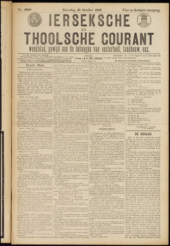 Ierseksche en Thoolsche Courant 1917-10-13