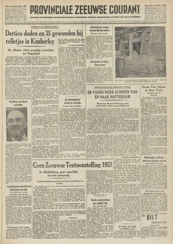 Provinciale Zeeuwse Courant 1952-11-10