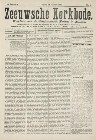 Zeeuwsche kerkbode, weekblad gewijd aan de belangen der gereformeerde kerken/ Zeeuwsch kerkblad 1915-01-22