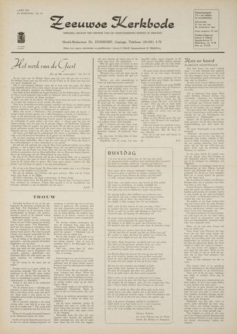 Zeeuwsche kerkbode, weekblad gewijd aan de belangen der gereformeerde kerken/ Zeeuwsch kerkblad 1970-06-04
