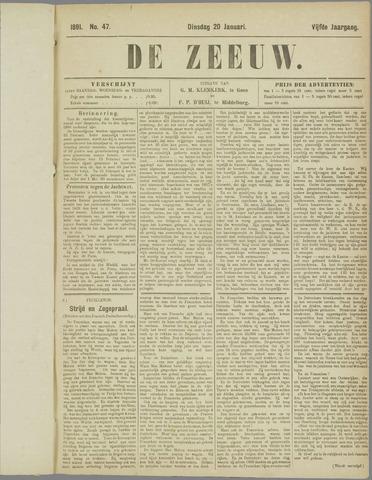 De Zeeuw. Christelijk-historisch nieuwsblad voor Zeeland 1891-01-20