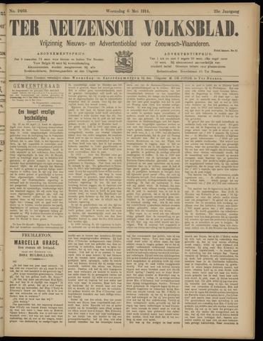 Ter Neuzensch Volksblad. Vrijzinnig nieuws- en advertentieblad voor Zeeuwsch- Vlaanderen / Zeeuwsch Nieuwsblad. Nieuws- en advertentieblad voor Zeeland 1914-05-06