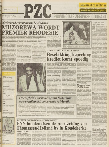 Provinciale Zeeuwse Courant 1979-04-25