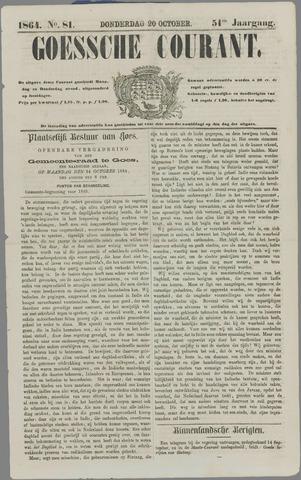 Goessche Courant 1864-10-20