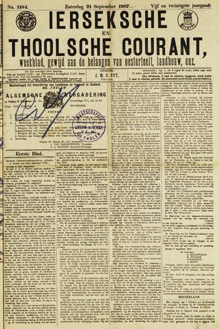 Ierseksche en Thoolsche Courant 1907-09-21