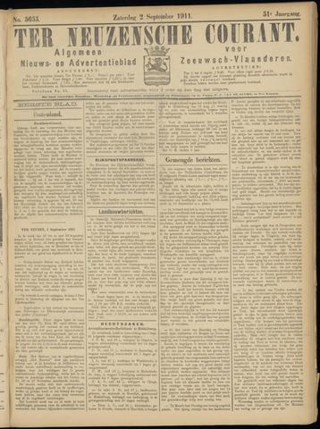 Ter Neuzensche Courant. Algemeen Nieuws- en Advertentieblad voor Zeeuwsch-Vlaanderen / Neuzensche Courant ... (idem) / (Algemeen) nieuws en advertentieblad voor Zeeuwsch-Vlaanderen 1911-09-02