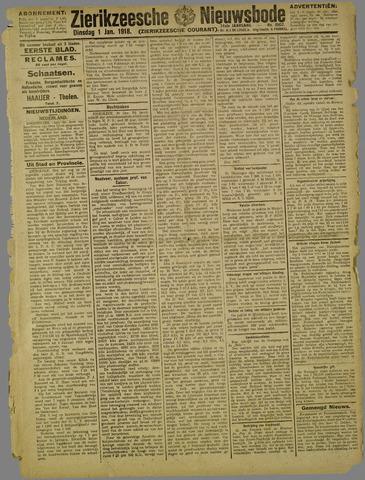 Zierikzeesche Nieuwsbode 1918