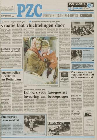 Provinciale Zeeuwse Courant 1992-11-14