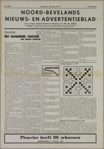 Noord-Bevelands Nieuws- en advertentieblad 1972-11-02