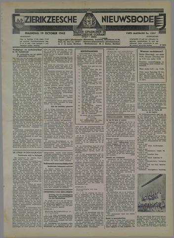 Zierikzeesche Nieuwsbode 1942-10-19