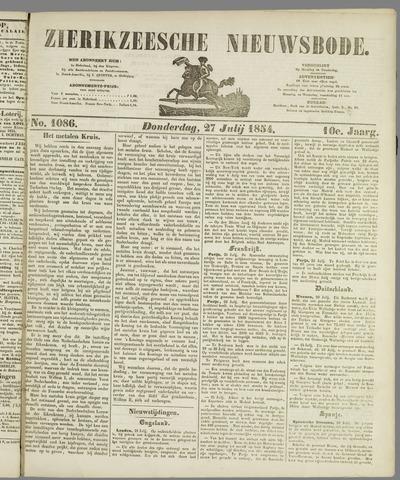 Zierikzeesche Nieuwsbode 1854-07-27